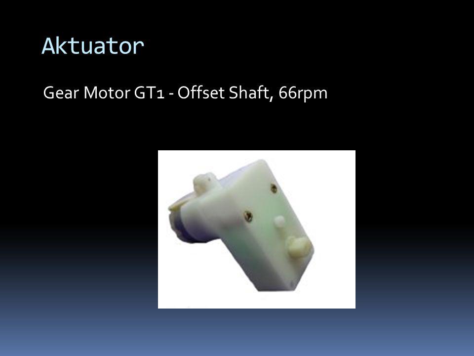 Aktuator Gear Motor GT1 - Offset Shaft, 66rpm