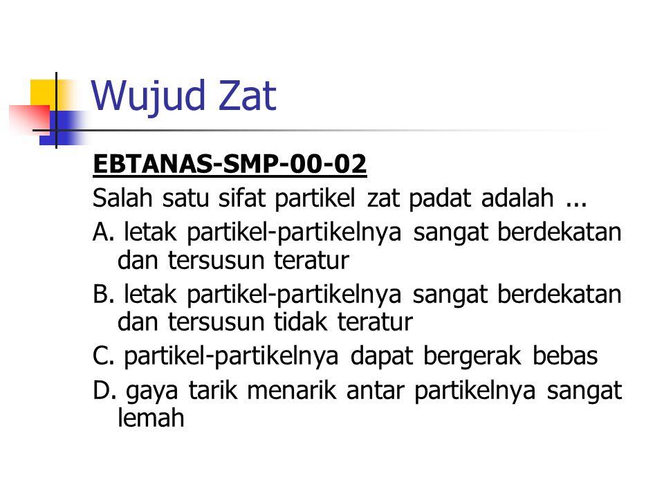 Wujud Zat EBTANAS-SMP-00-02