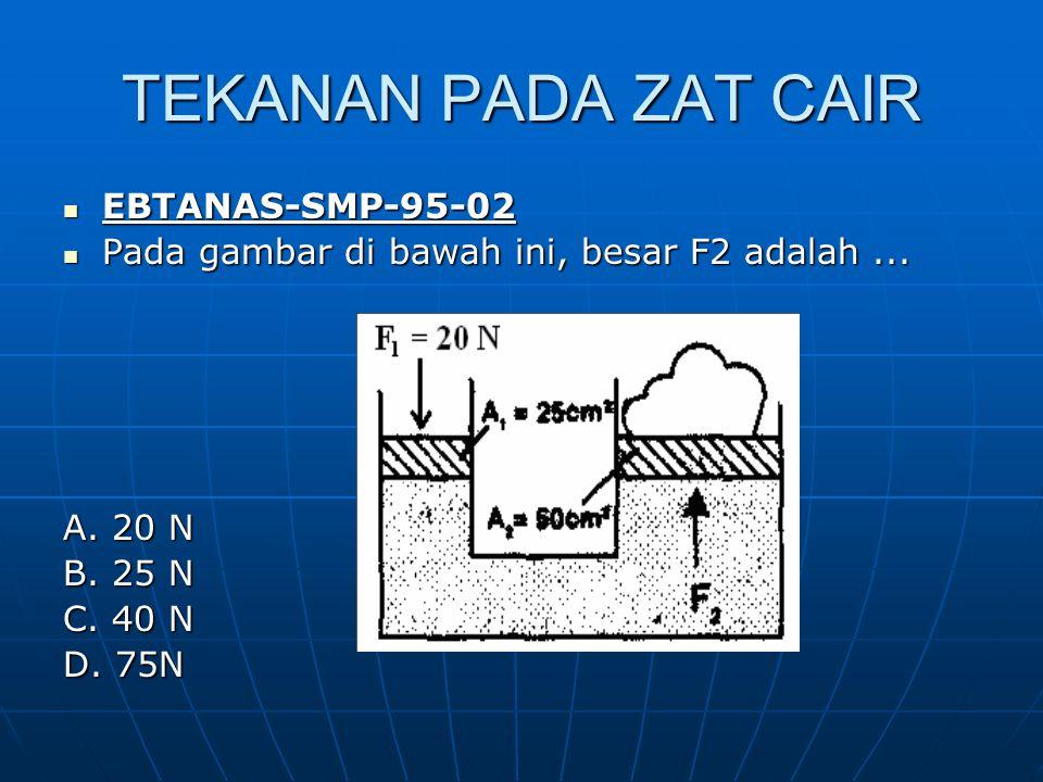 TEKANAN PADA ZAT CAIR EBTANAS-SMP-95-02