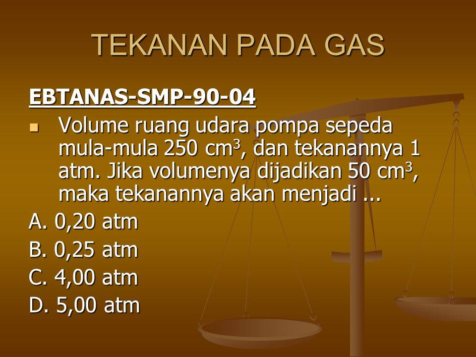 TEKANAN PADA GAS EBTANAS-SMP-90-04