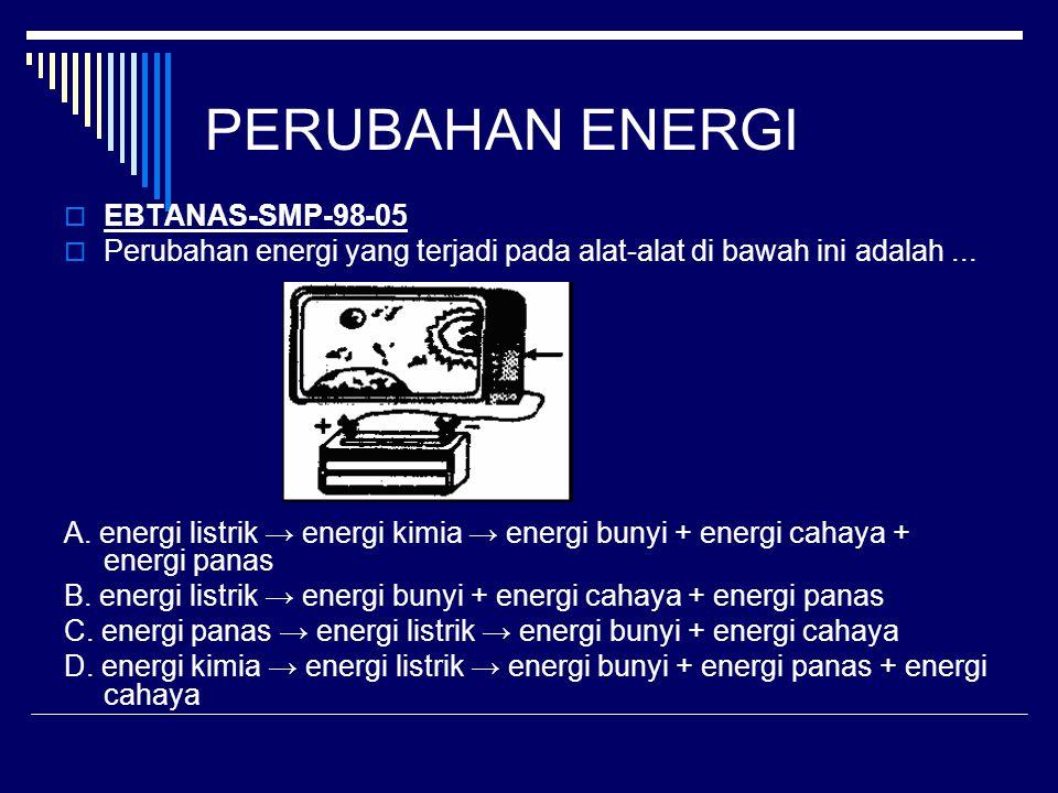 PERUBAHAN ENERGI EBTANAS-SMP-98-05