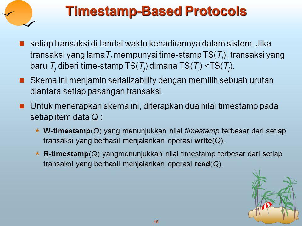 Timestamp-Based Protocols