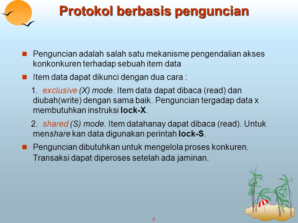 Protokol berbasis penguncian