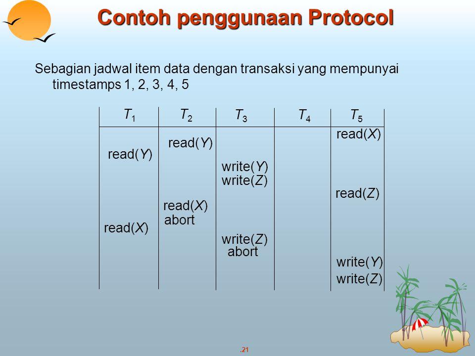 Contoh penggunaan Protocol