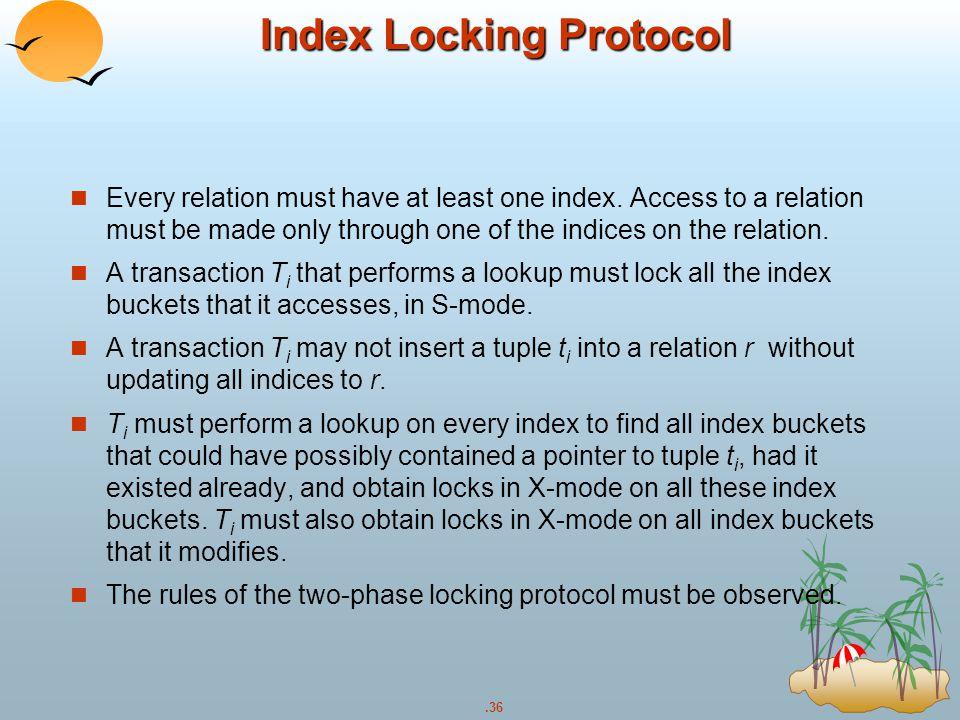 Index Locking Protocol