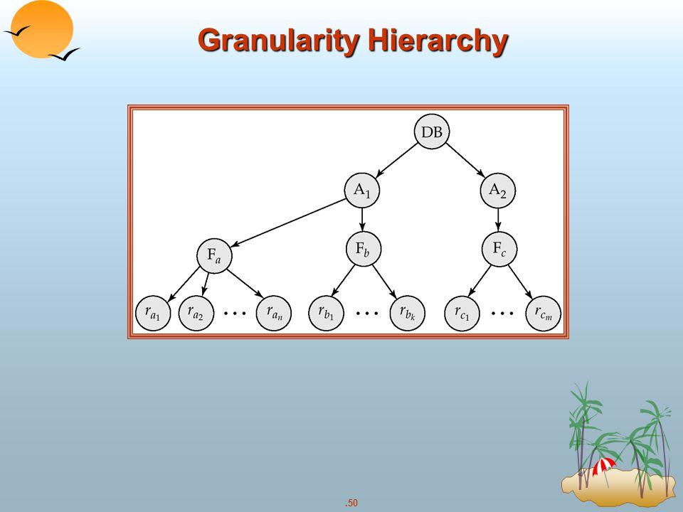 Granularity Hierarchy
