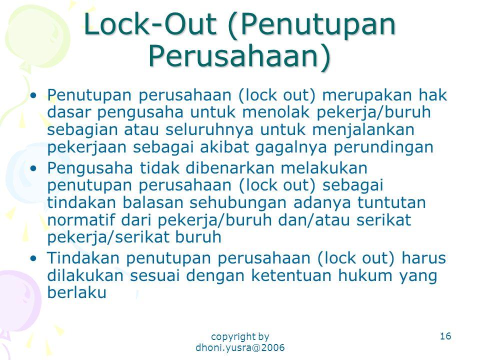 Lock-Out (Penutupan Perusahaan)