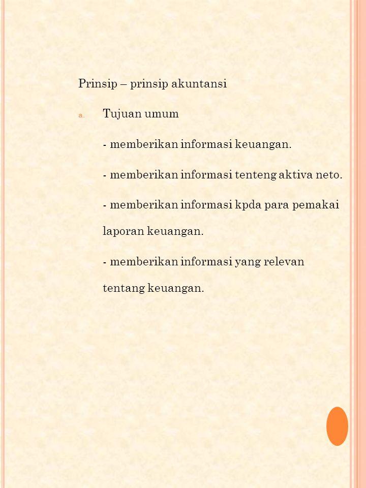 Prinsip – prinsip akuntansi