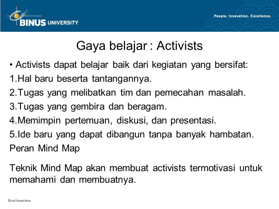 Gaya belajar : Activists