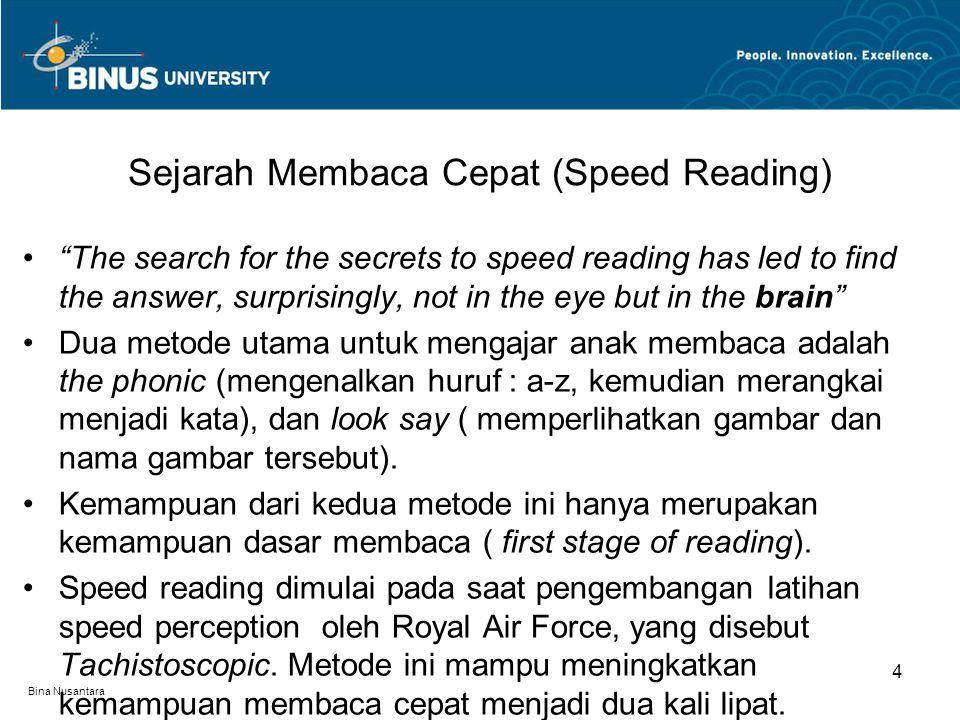 Sejarah Membaca Cepat (Speed Reading)