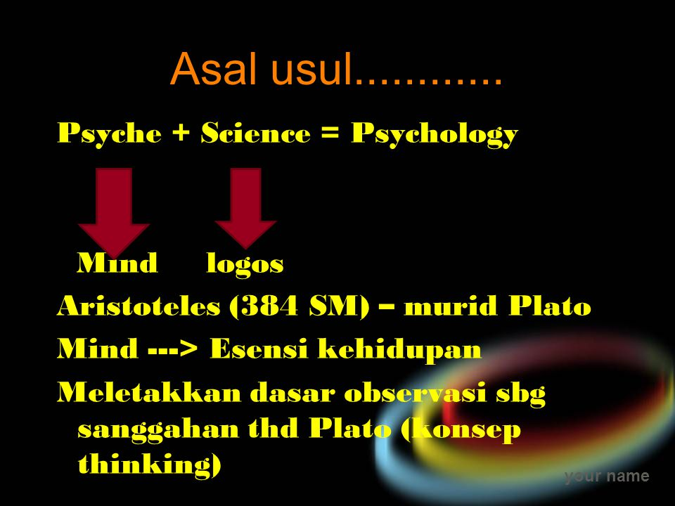 Asal usul............ Psyche + Science = Psychology Mind logos