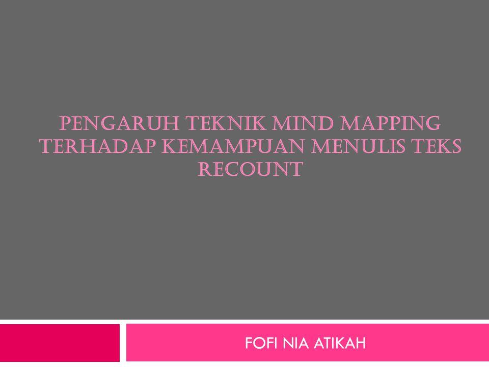 Pengaruh teknik mind mapping terhadap kemampuan menulis teks recouNt