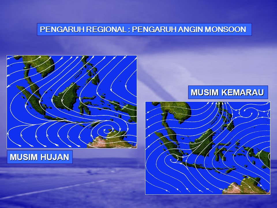 PENGARUH REGIONAL : PENGARUH ANGIN MONSOON