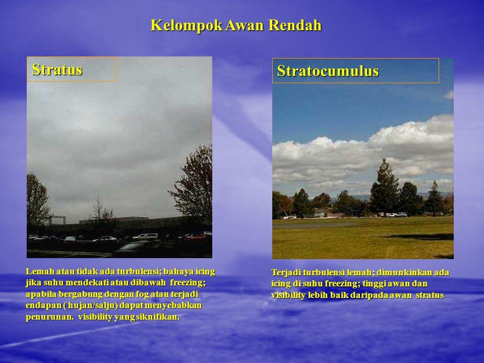Kelompok Awan Rendah Stratus Stratocumulus