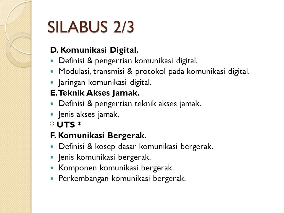 SILABUS 2/3 D. Komunikasi Digital.