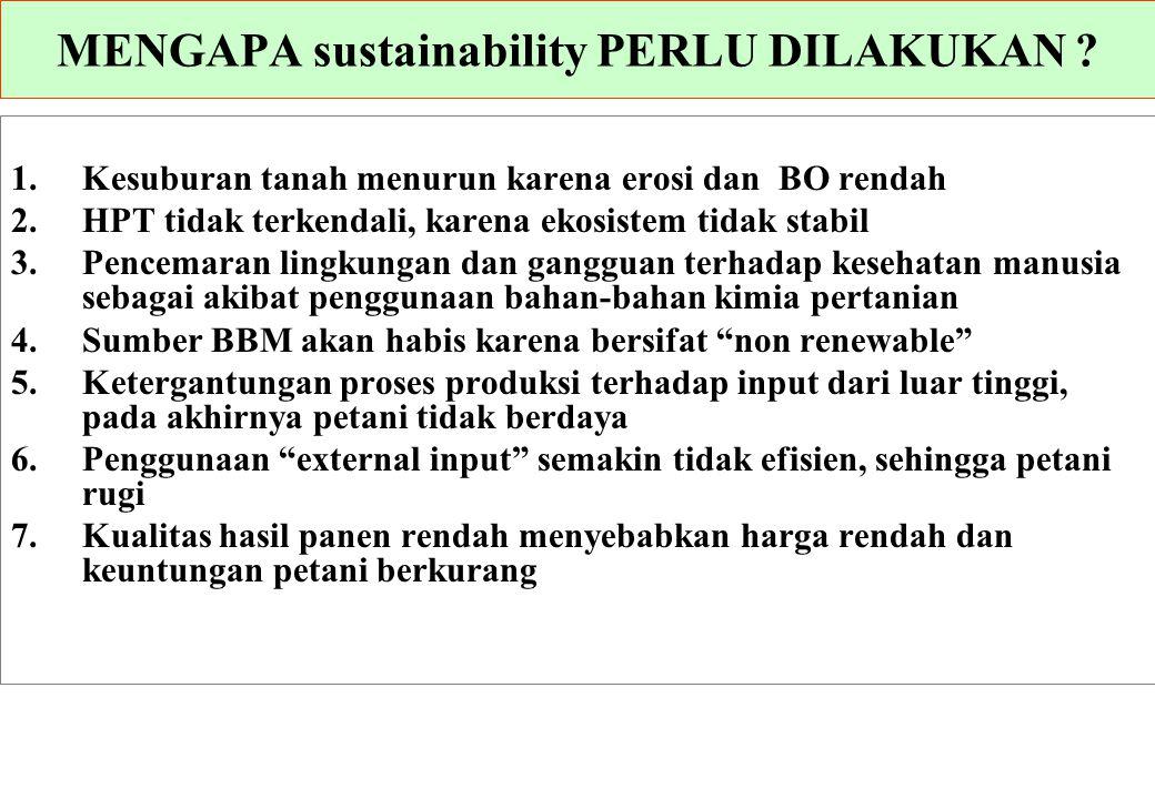 MENGAPA sustainability PERLU DILAKUKAN