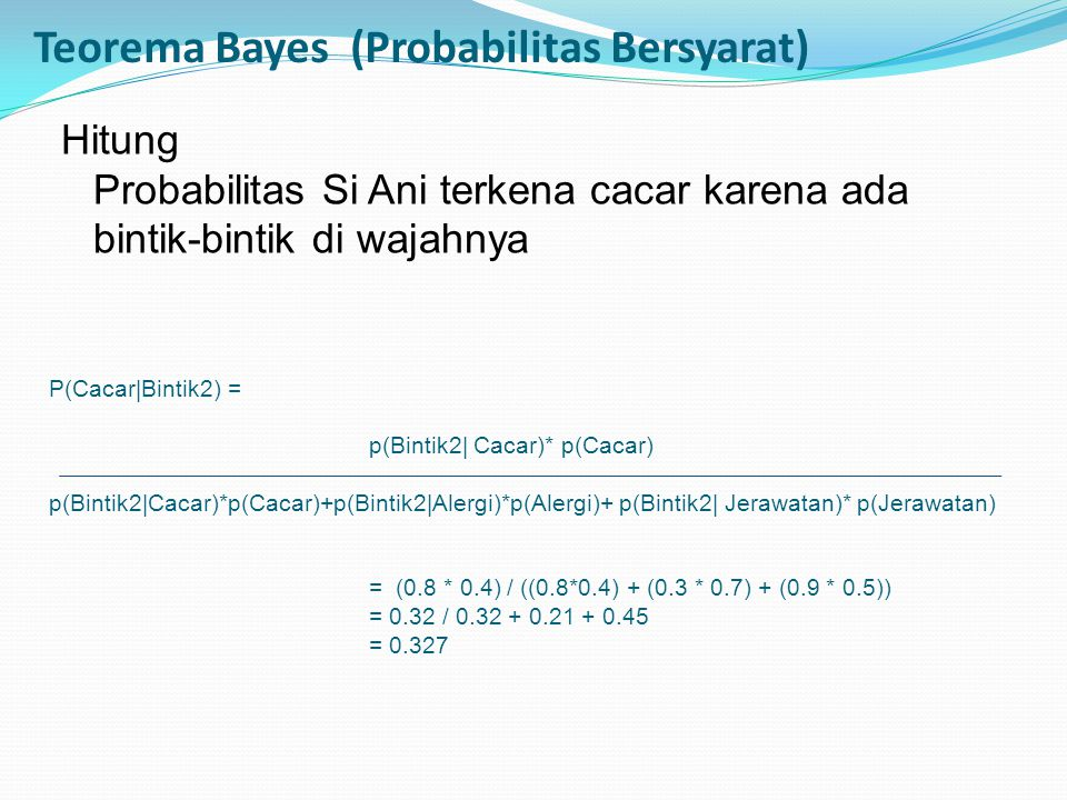 Teorema Bayes (Probabilitas Bersyarat)