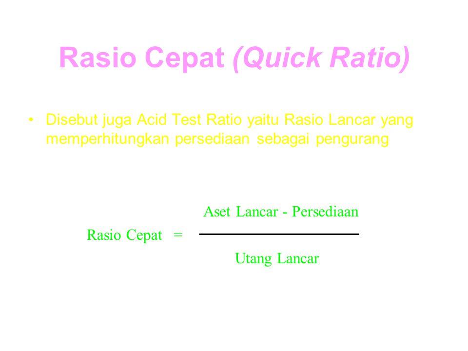 Rasio Cepat (Quick Ratio)