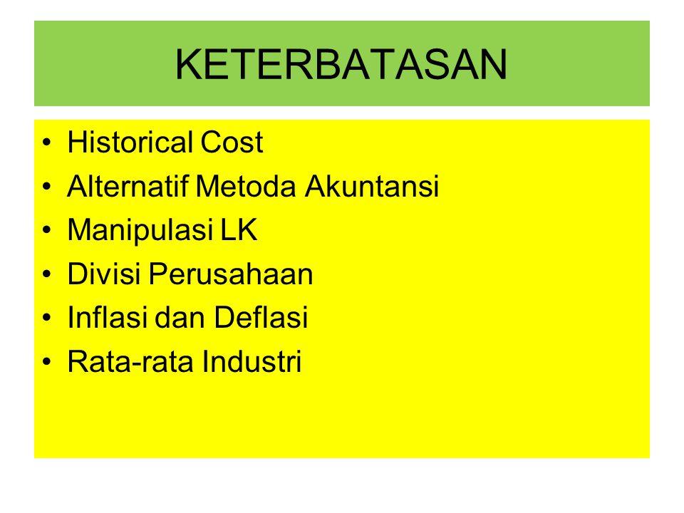 KETERBATASAN Historical Cost Alternatif Metoda Akuntansi Manipulasi LK