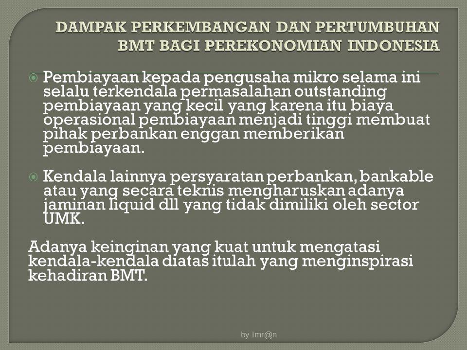 DAMPAK PERKEMBANGAN DAN PERTUMBUHAN BMT BAGI PEREKONOMIAN INDONESIA