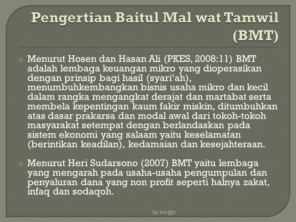 Pengertian Baitul Mal wat Tamwil (BMT)