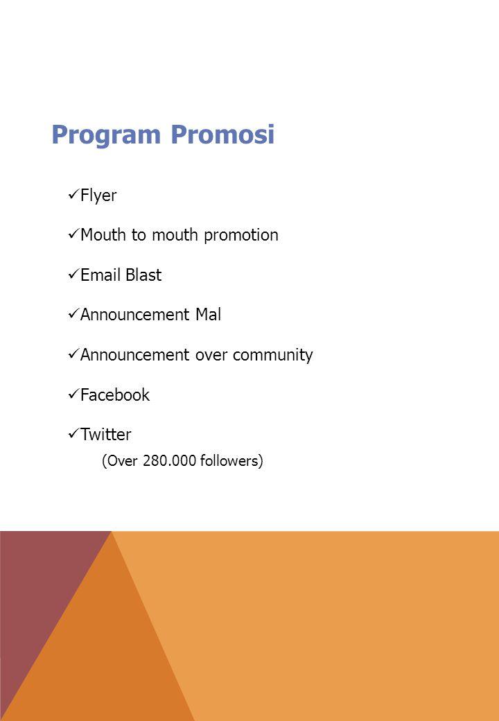 Program Promosi (Over 280.000 followers) Flyer