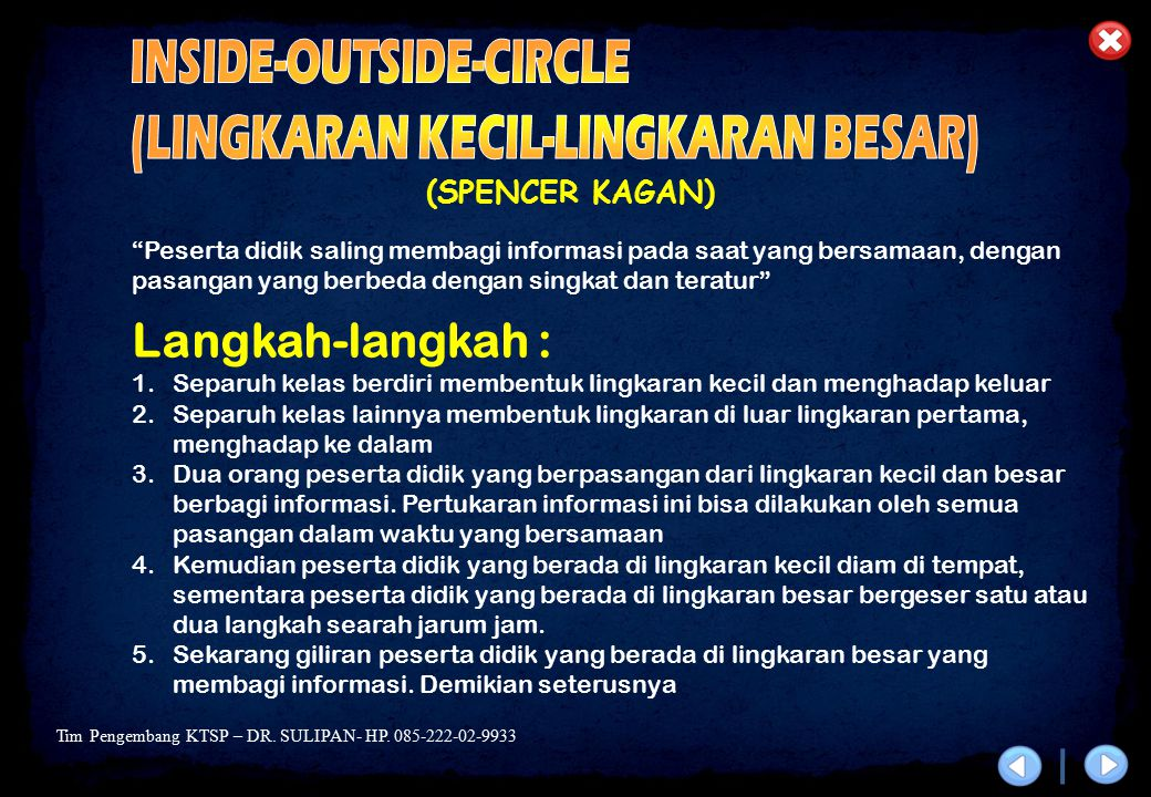 INSIDE-OUTSIDE-CIRCLE (LINGKARAN KECIL-LINGKARAN BESAR)