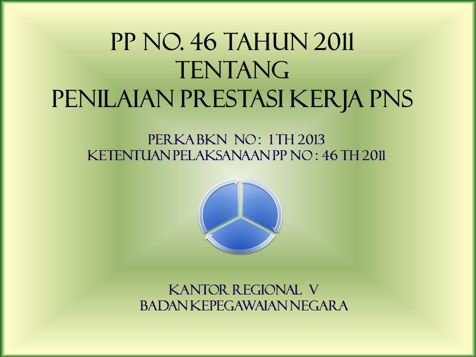 PP No. 46 TAHUN 2011 TENTANG PENILAIAN PRESTASI KERJA PNS