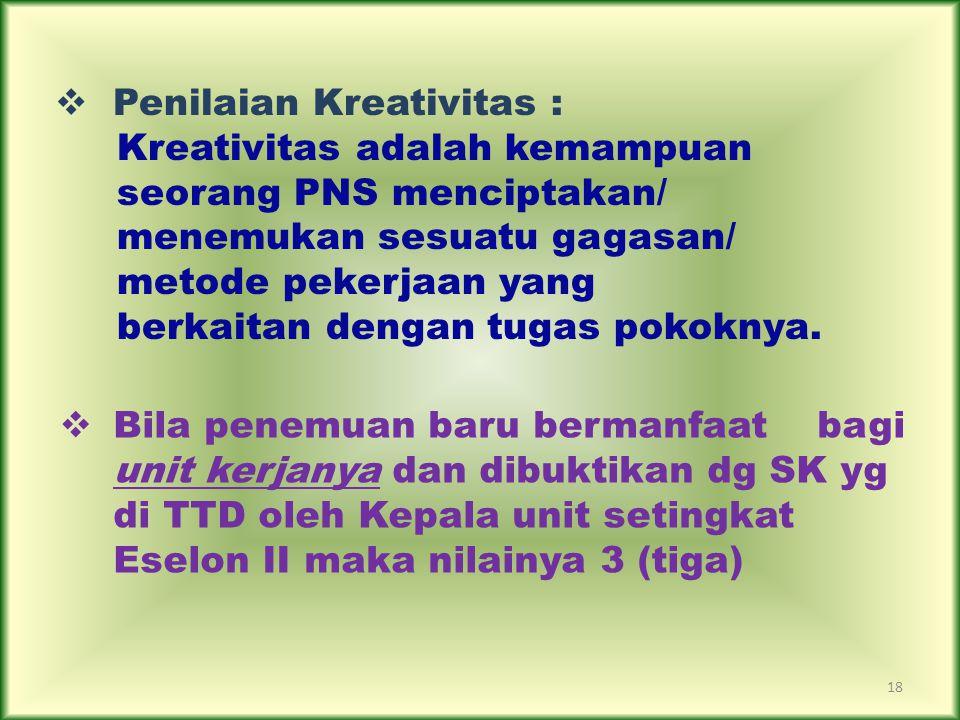 Penilaian Kreativitas :