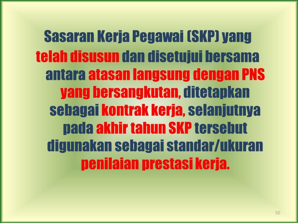 Sasaran Kerja Pegawai (SKP) yang