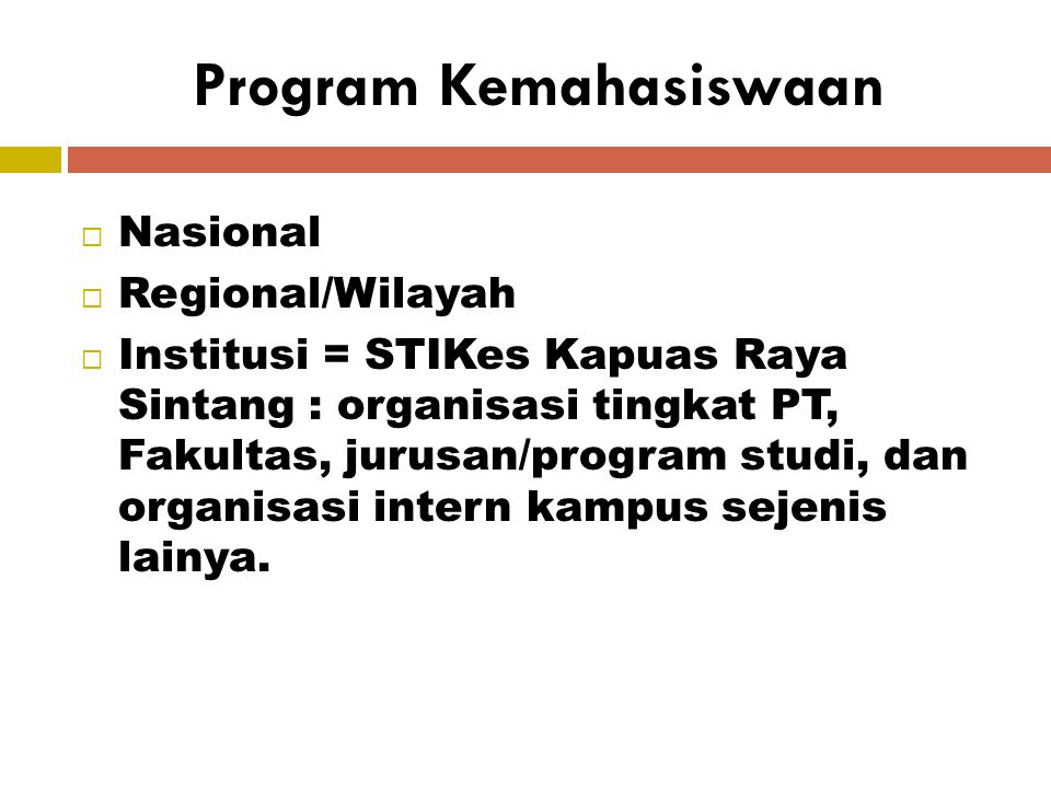Program Kemahasiswaan