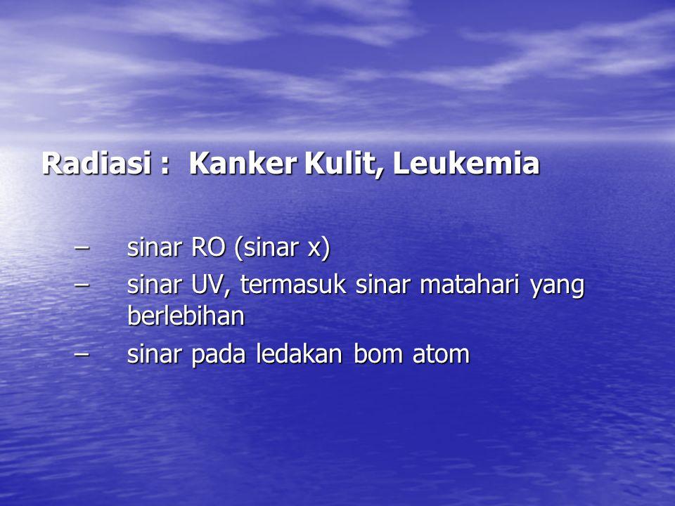 Radiasi : Kanker Kulit, Leukemia