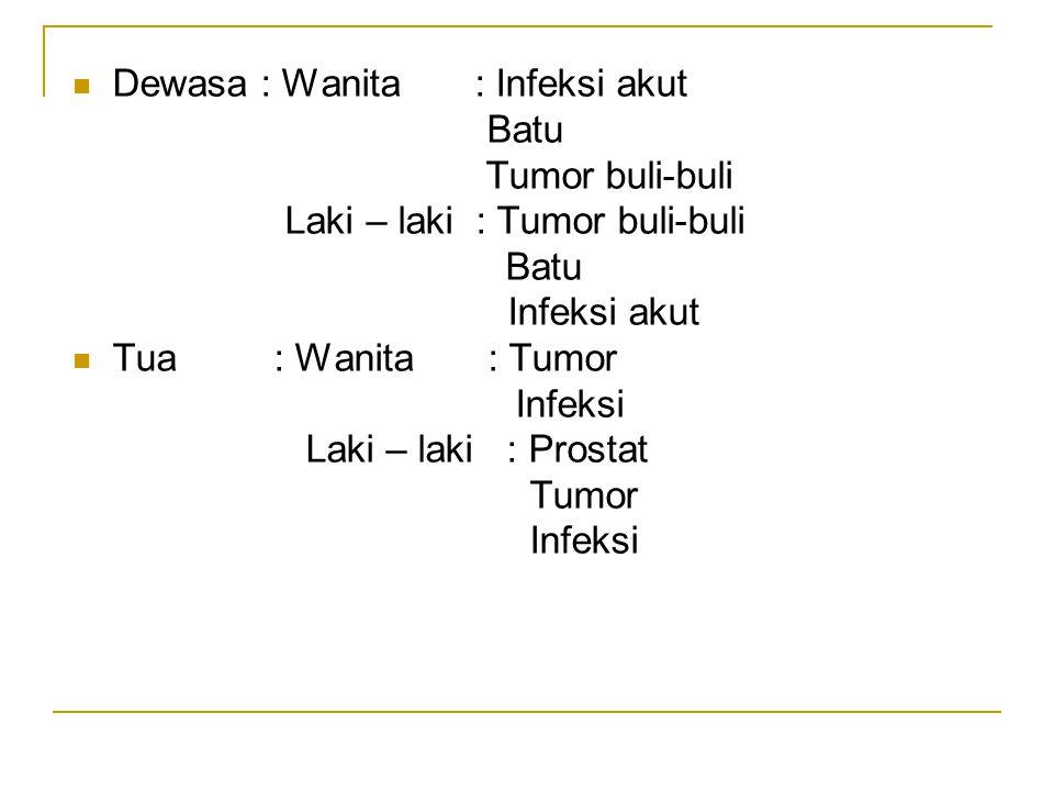 Dewasa : Wanita : Infeksi akut