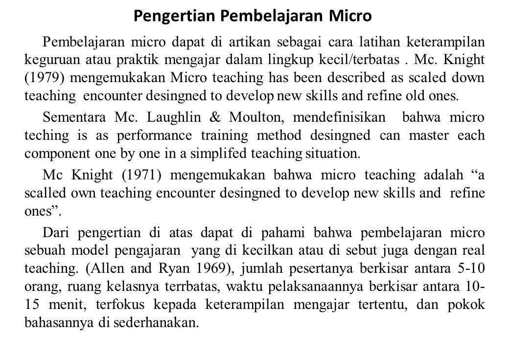 Pengertian Pembelajaran Micro