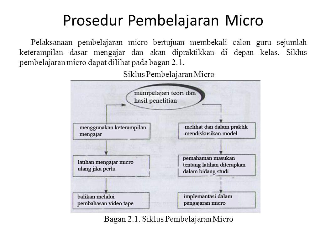 Prosedur Pembelajaran Micro