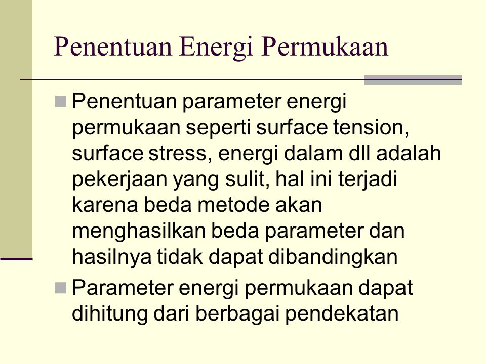 Penentuan Energi Permukaan