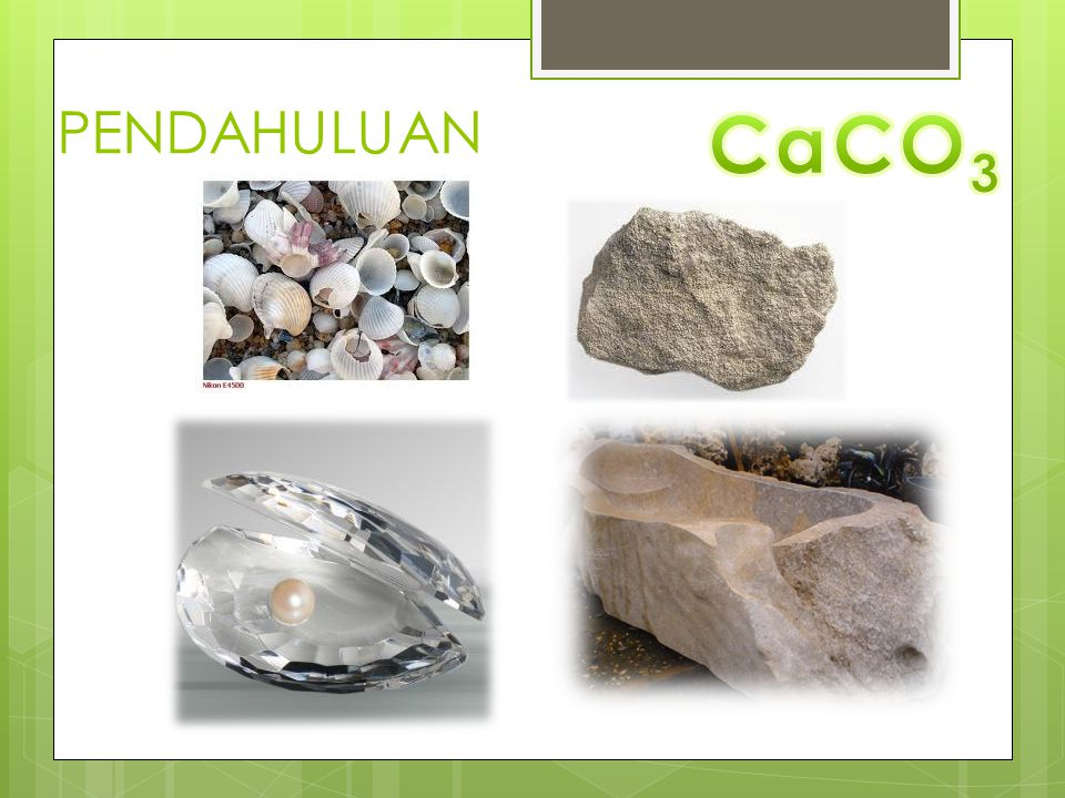 PENDAHULUAN CaCO3