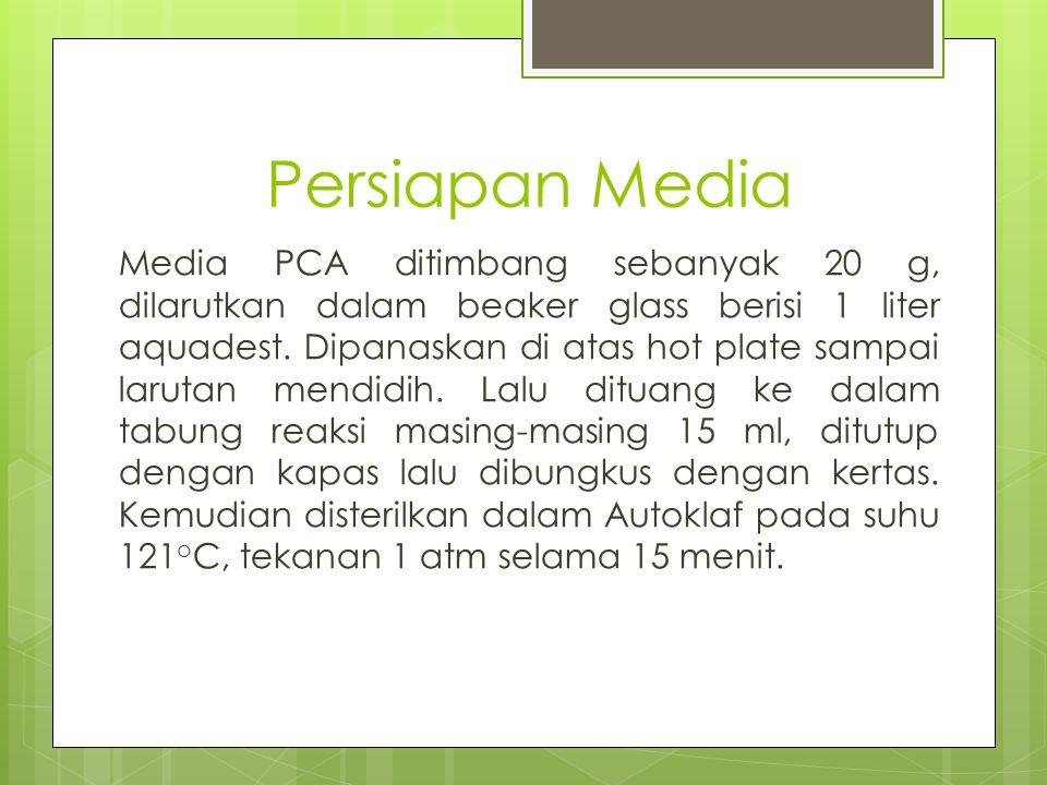 Persiapan Media