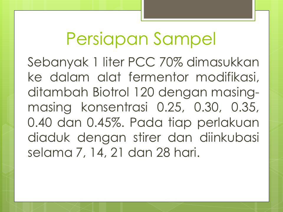 Persiapan Sampel