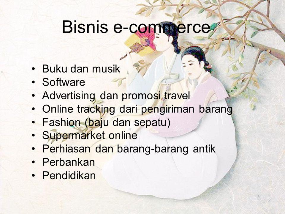 Bisnis e-commerce Buku dan musik Software