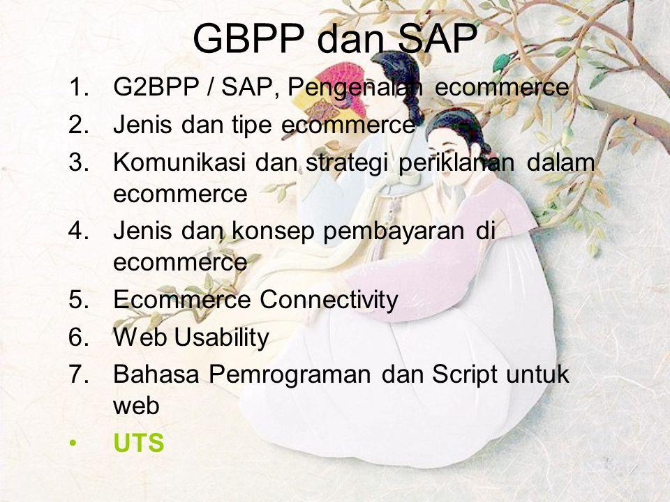 GBPP dan SAP G2BPP / SAP, Pengenalan ecommerce