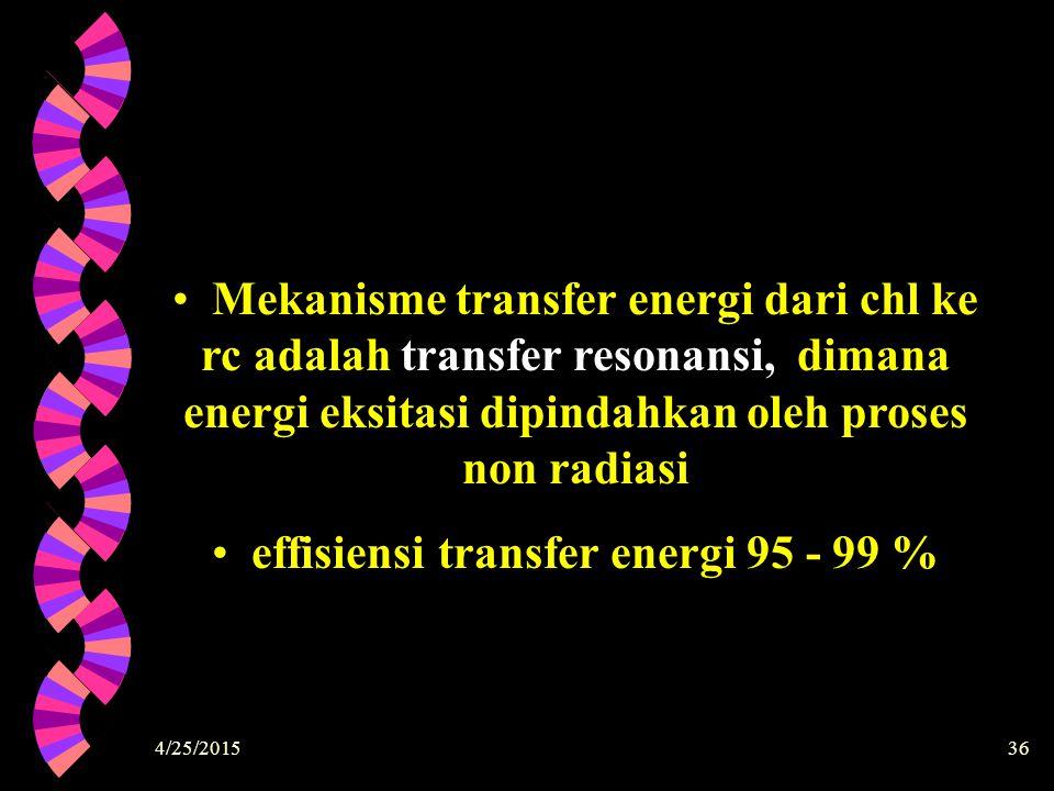 effisiensi transfer energi 95 - 99 %