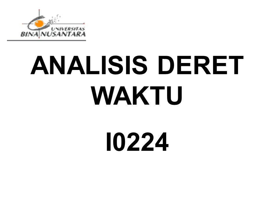 ANALISIS DERET WAKTU I0224 PENDUGAAN PARAMETER PEUBAH LATEN KEMISKINAN RELATIF