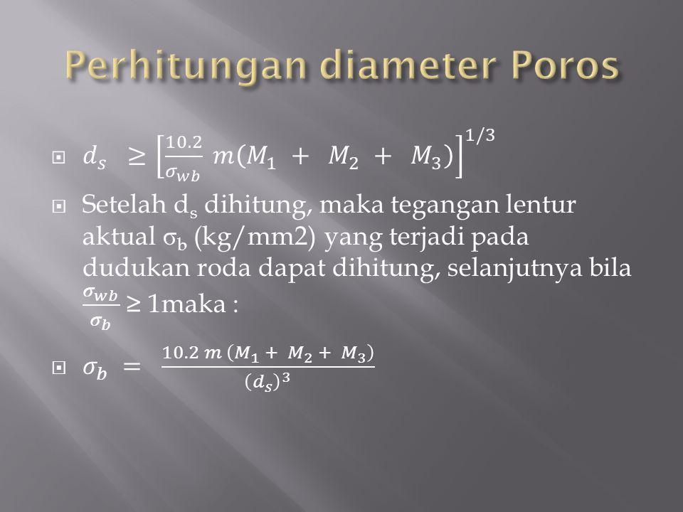 Perhitungan diameter Poros