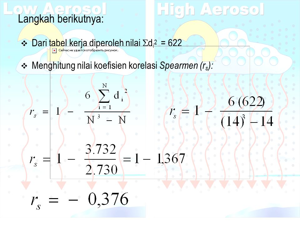 Langkah berikutnya: Dari tabel kerja diperoleh nilai di2 = 622