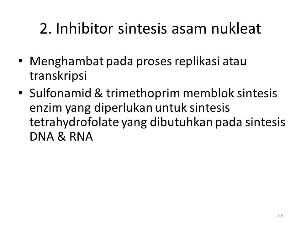 2. Inhibitor sintesis asam nukleat