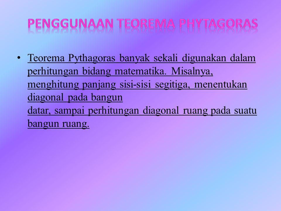 Penggunaan teorema phytagoras