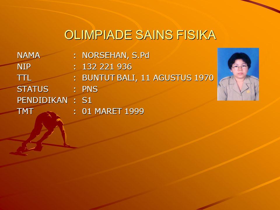 OLIMPIADE SAINS FISIKA