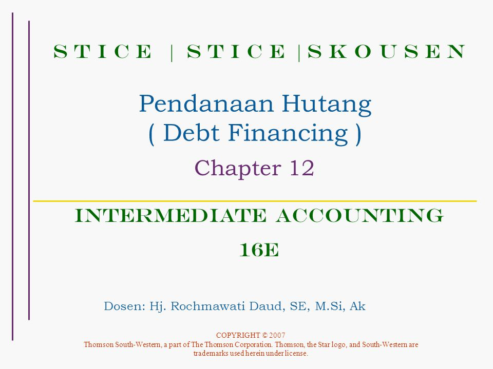 Pendanaan Hutang ( Debt Financing )