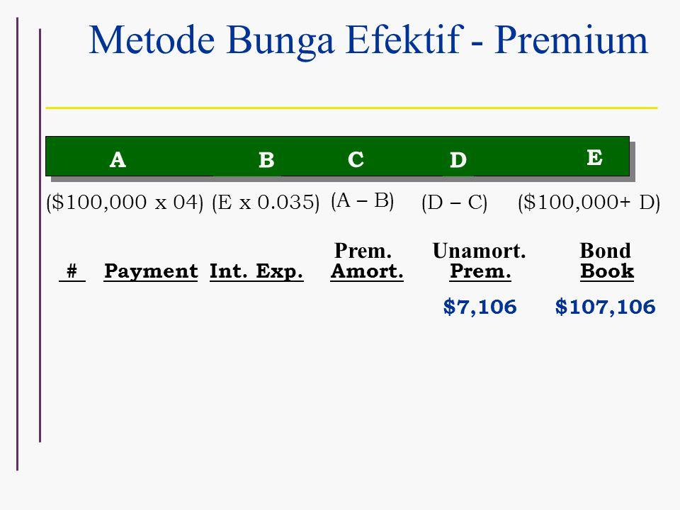 Metode Bunga Efektif - Premium